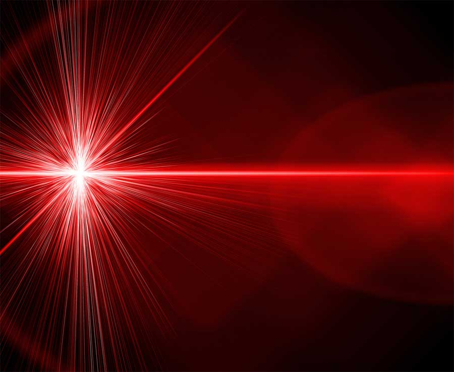 Focal point of laser
