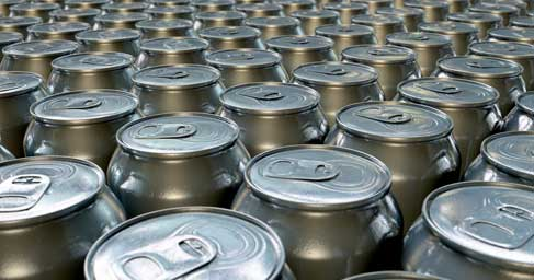 Cans being manufactured