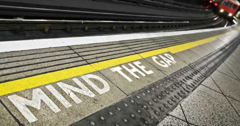 Mind the gap at train station